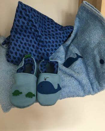 Chausson baleine et tortue