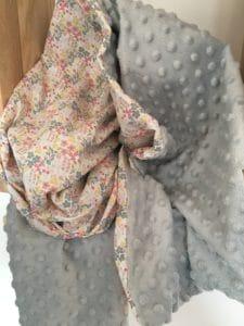 Couverture minky gris 1
