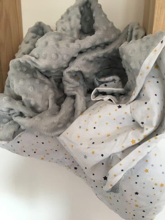 Couverture minky gris