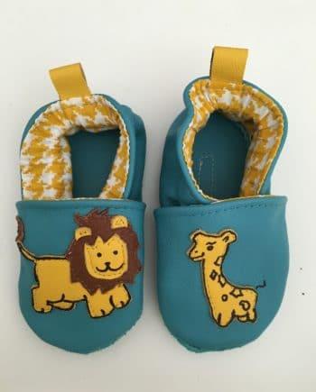 Chausson lion et girafe