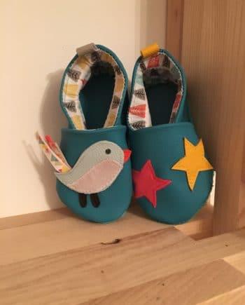 Chausson oiseau et étoile